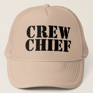 Khaki Military CREW CHIEF Trucker Cap 100813