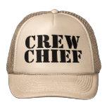 Khaki Military CREW CHIEF Trucker Cap 100813 Trucker Hats