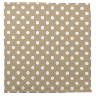 Khaki Polka Dot Pattern Napkin