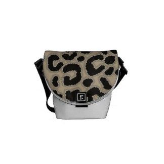 Khaki, Tan, Leopard Animal Print Messenger Bag