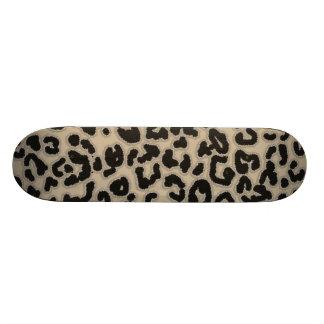 Khaki, Tan, Leopard Animal Print Skate Boards
