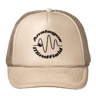 Khaki Trucker Hat w /Analogue Mindfield logo