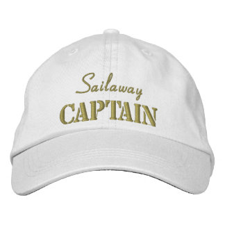 Khaki White Nautical Captain Custom Embroidered Baseball Caps