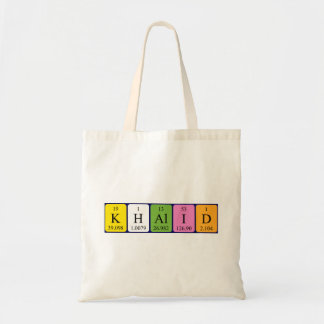 Khalid periodic table name tote bag