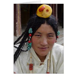 Kham Woman at Sera Monastery Greeting Card