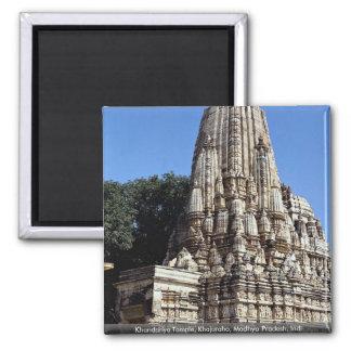 Khandariya Temple, Khajuraho, Madhya Pradesh, Indi Square Magnet