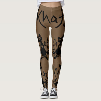 Khat logo leggings BROWN