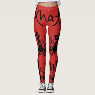 Khat logo leggings RED