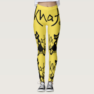 Khat logo leggings YELLOW