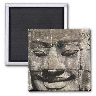 Khmer Stone Face ... Bayon Temple, Cambodia Magnet