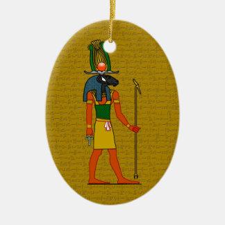 Khnum, Ancient Egyptian God Ceramic Oval Decoration