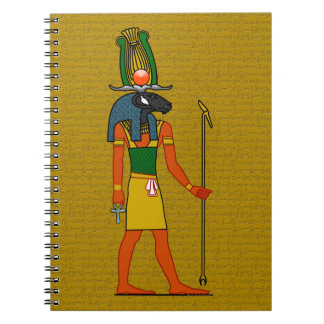 Khnum, Ancient Egyptian God Spiral Note Book