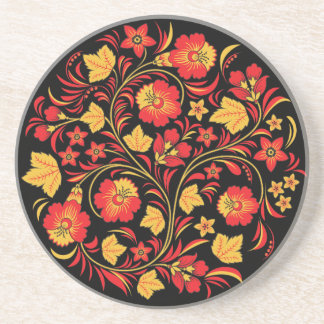 Khokhloma Russian Folk Art Coaster