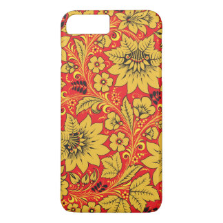 Khokhloma yellow flowers case