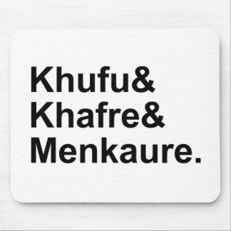 Khufu, Khafre, Menkaure | Pyramids of Egypt & Giza Mouse Pad