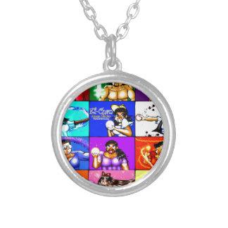 Ki-Chan: Demon Hunter Block Silver Plated Necklace