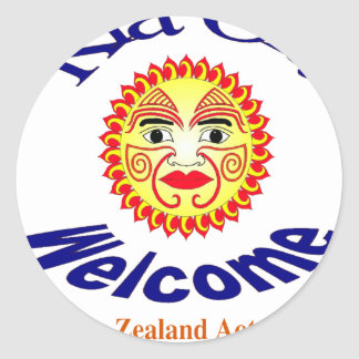 Kia Ora, Welcome Round Sticker