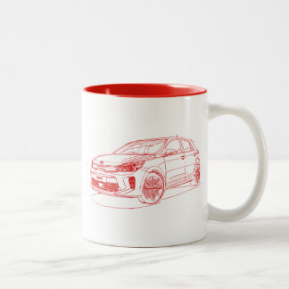 Kia Rio 2017 Two-Tone Coffee Mug