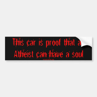 Kia Soul Atheist sticker Bumper Sticker