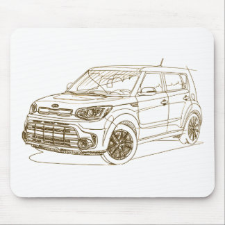 Kia Soul Turbo 2017 Mouse Pad