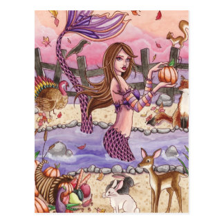 Kiandra - Thanksgiving Mermaid Postcard