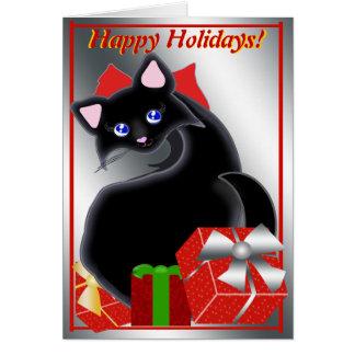 Kiara Toon Kitty Holiday Reds Card