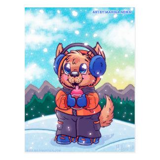 Kiba's Snowy Day Postcard