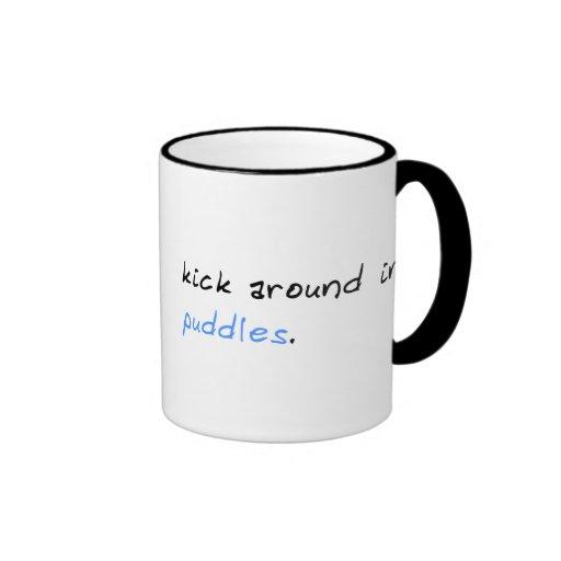 Kick Around In Puddles Ringer Mug