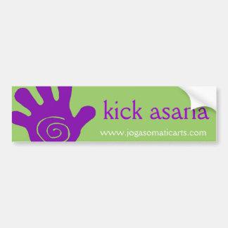 kick asana bumper sticker