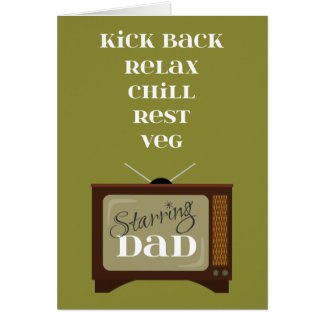 Kick Back Relax for Dad on Father's Day Retro TV Card