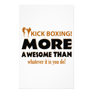 KICK BOXING! DESIGN STATIONERY