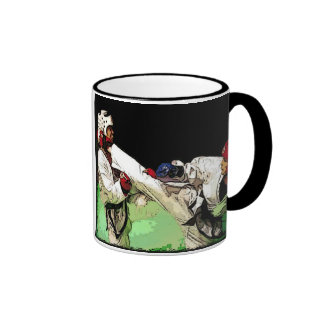 Kick Boxing, Martial Arts Ringer Mug