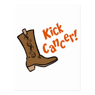 Kick Cancer! Postcard
