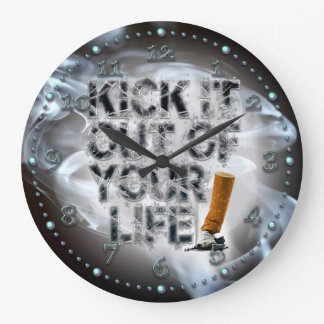 Kick It Out Of Your Life! Large Clock