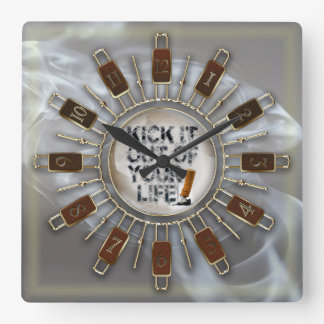 Kick It Out Of Your Life! Square Wall Clock