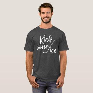 Kick Some Ice Hockey T-shirt Mens