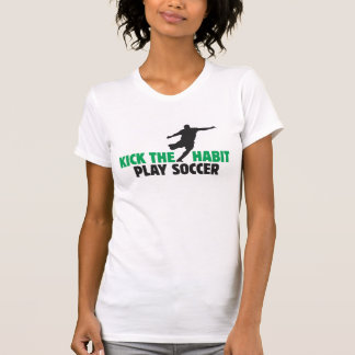 Kick The Habit Play Soccer 2 Micro-Fiber Singlet Tee Shirts