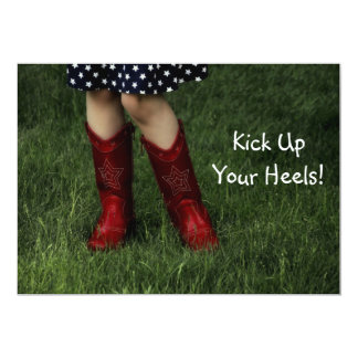 Kick Up Your Heels! 13 Cm X 18 Cm Invitation Card