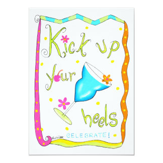 Kick up Your Heels Blue Drink Party Invitation