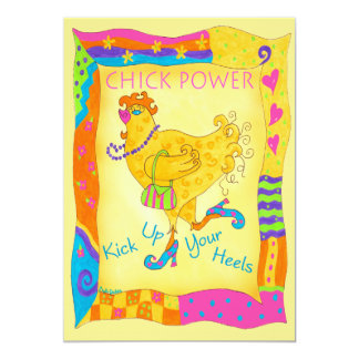 Kick Up Your Heels Chick Power Invitation
