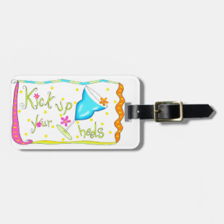 Kick Up Your Heels White Luggage Tag