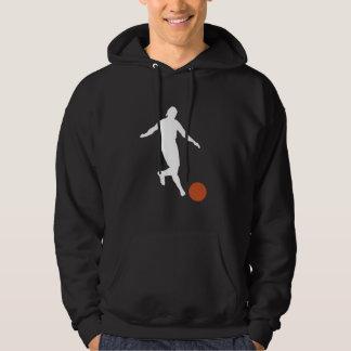 Kickball Player Silhouette Hoodie
