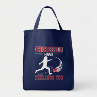 Kickers Have Feelings Too Love Football Shirt Tote Bag
