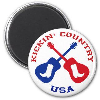 Kickin' Country USA Magnet