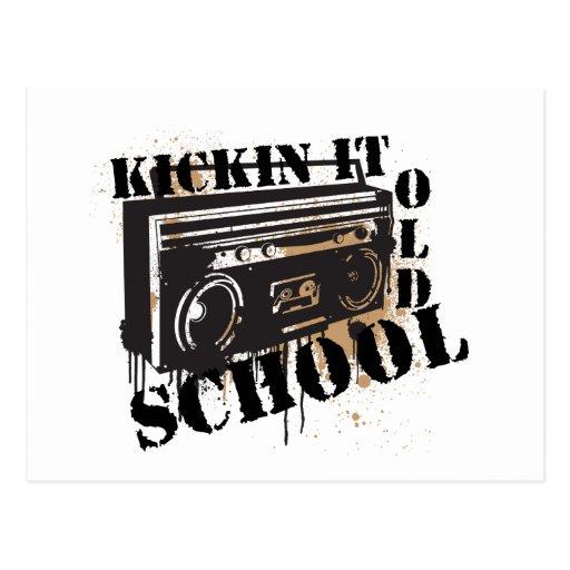 Kickin It Old School Postcard