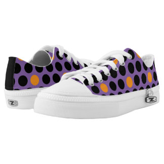 Kicking Around Purple, Orange & Black Polka Dots Printed Shoes