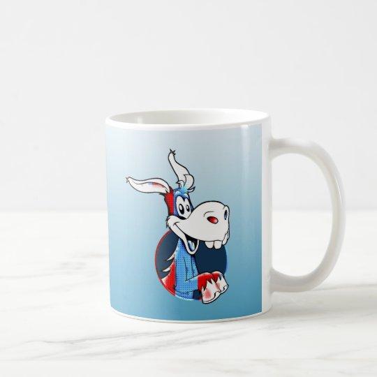 Kicking Ass Democrat Funny Donkey Patriotic Mug