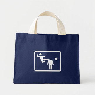 Kicking The Head Off The Neck Canvas Bags