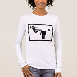 Kicking The Head Off The Neck Long Sleeve T-Shirt
