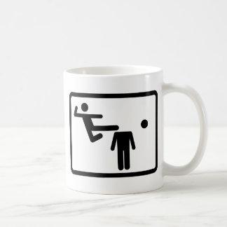 Kicking The Head Off The Neck Classic White Coffee Mug